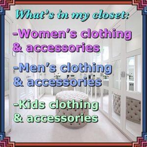About my closet...